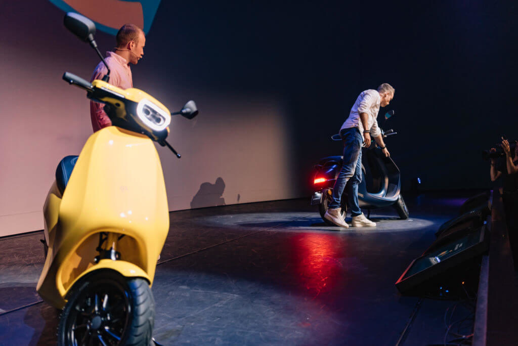 AppScooter on stage.